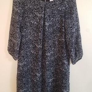 H&M Black Dress Patterned